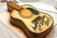 Guitar Birthday Cake