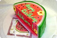 Watermelon Birthday Cake