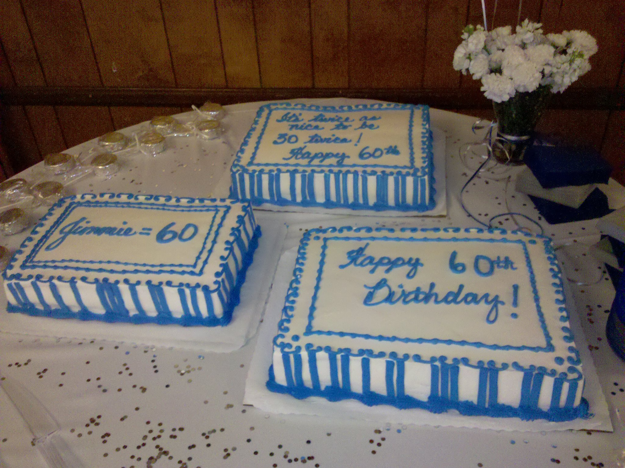 60th Birthday Cake Delivered To Anaheim