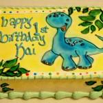 1st birthday cake dinosaur