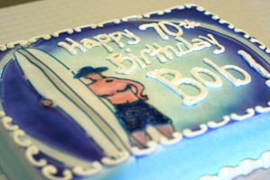 Surfer 70th Birthday Cake