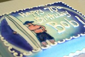 Surfer 70th Birthday Cake