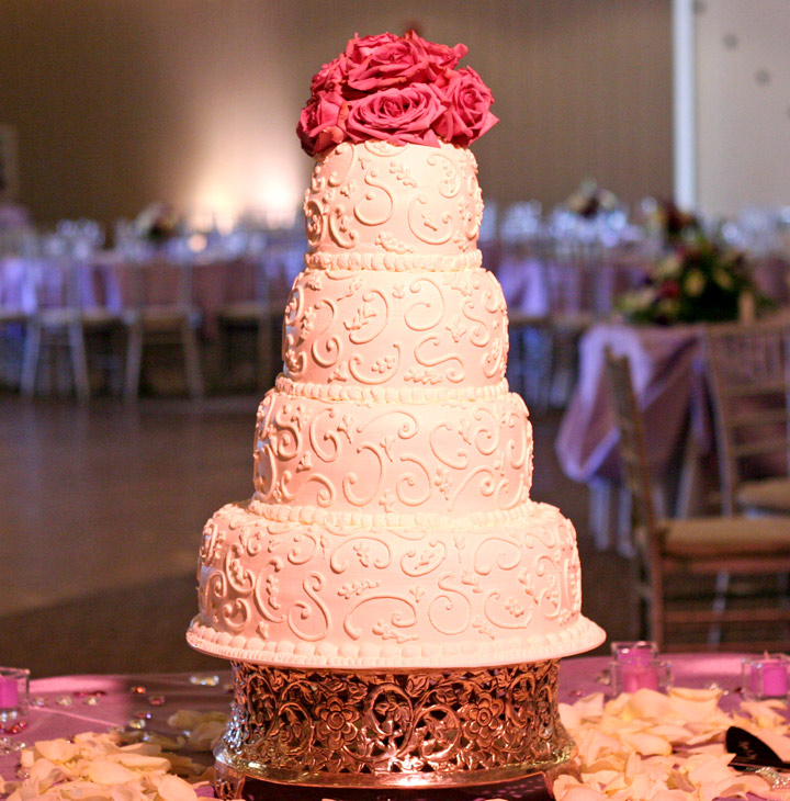 Gorgeous Stacked Wedding Cake