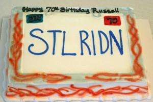 70th birthday cake license plate