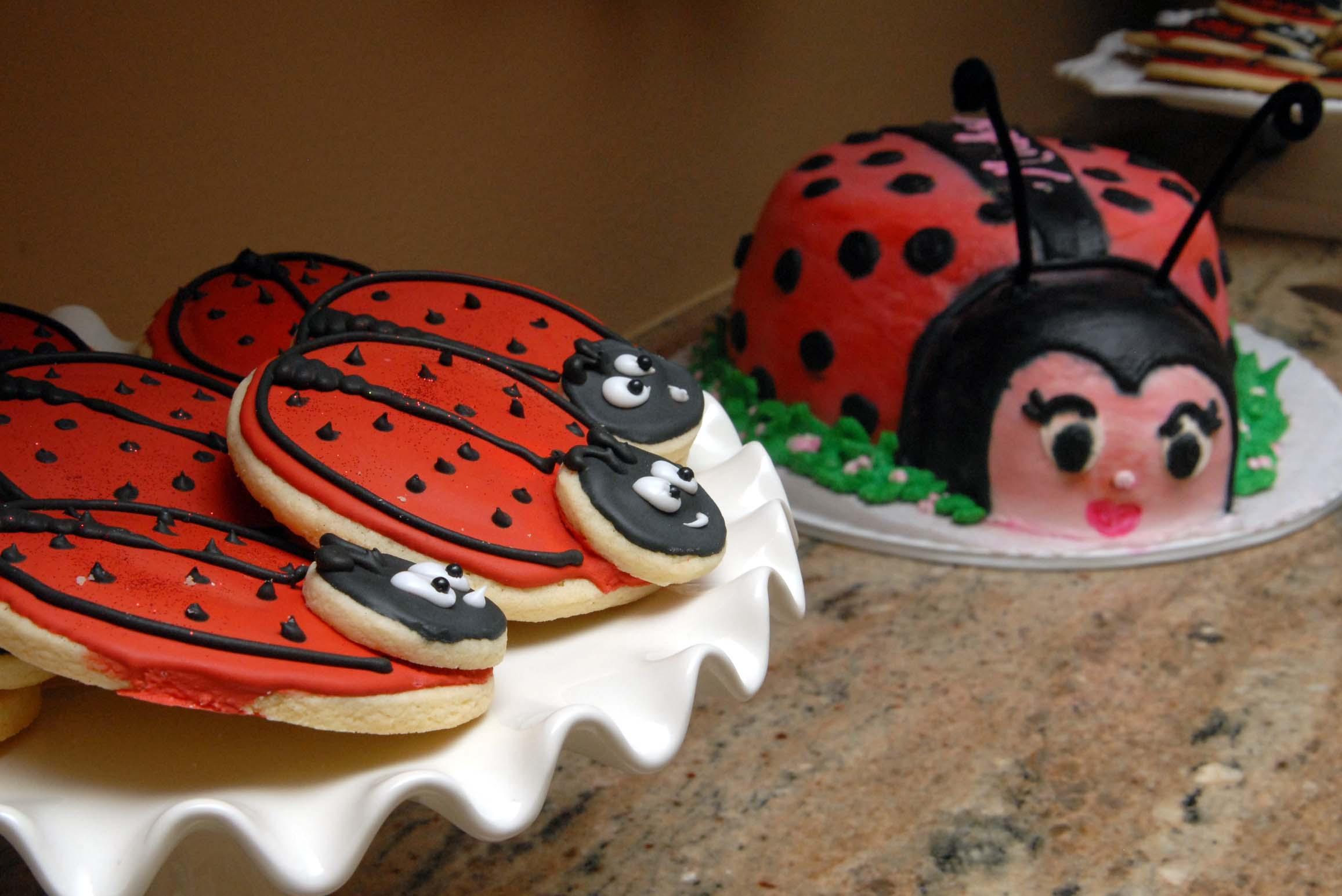 Wonderful Lady Bug Baby Shower Cake Pattys Cakes And Desserts