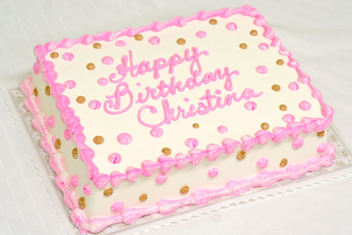 Pink And Brown Birthday Cake Patty S Cakes And Desserts