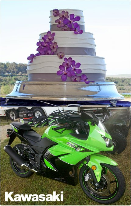 Kawasaki Ninja Commercial Wedding Cake