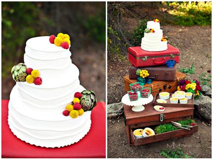 Amelie Photo Shoot with Wedding Cake