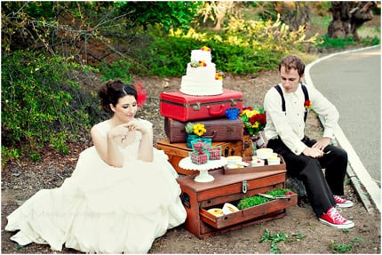 Amelie Photo Shoot with the Wedding Cake