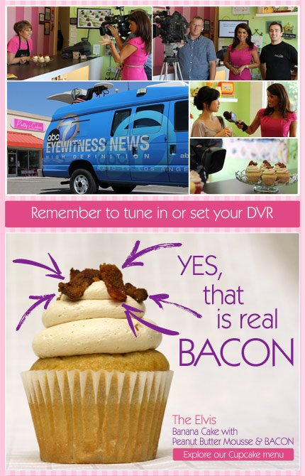 Patty's Cakes on ABC 7 News and the Elvis Bacon Cupcake