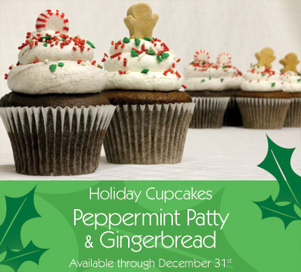 Holiday cupcakes Peppermint Patty and Gingerbread