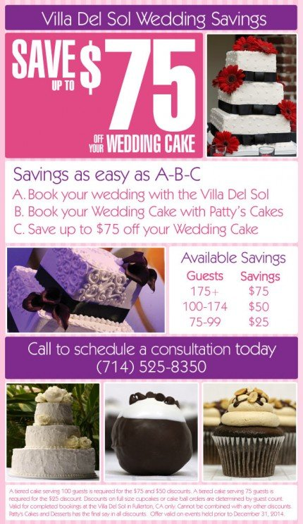Villa Del Sol Wedding Cake Savings