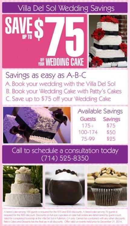 Villa Del Sol Wedding Cake Savings