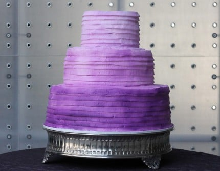 Ombre wedding cake purple