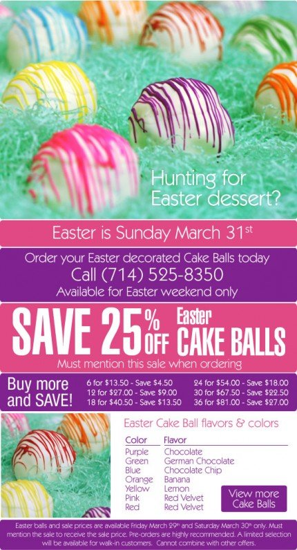 Easter cake ball sale