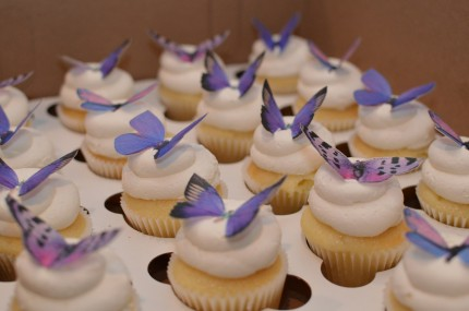 butterfly mini cupcakes