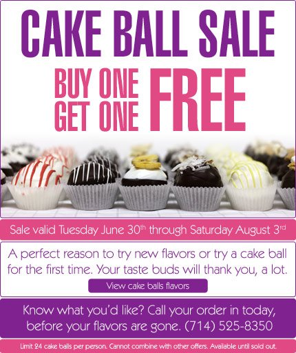 Cake Ball Sale- Buy one get one free
