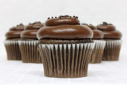 Gluten-Free Chocolate with Chocolate Fudge Cupcake