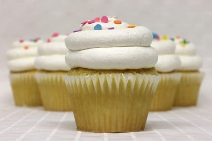 Gluten-Free White with Vanilla Mousse Cupcake