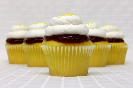 Lemon Razzle Cupcake