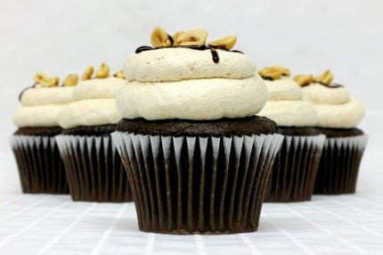 Gluten-Free Chocolate with Peanut Butter Mousse Cupcake