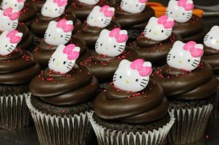 Hello Kitty Cupcakes Chocolate