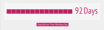 A cake is booked 92 days before the wedding
