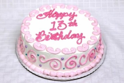 13th-birthday-cake-pink-white