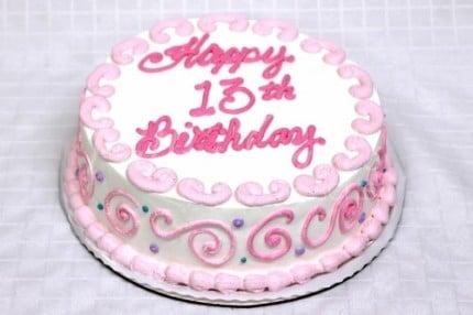 13th-birthday-cake-pink-white