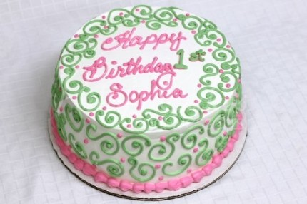 1st-birthday-cake-green-pink