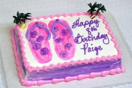 beach-sandals-birthday-cake-pink-purple
