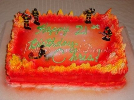 Fabulous Fire Fighter Birthday Cake Archives Pattys Cakes And Desserts Birthday Cards Printable Nowaargucafe Filternl