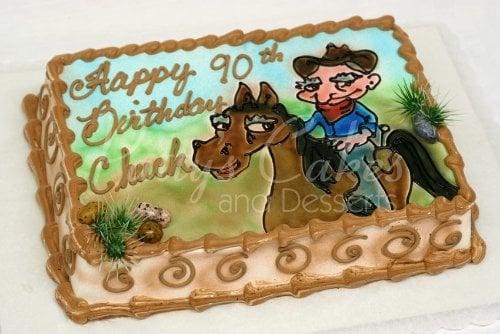 Brilliant Cowboy Birthday Cake Funny Birthday Cards Online Alyptdamsfinfo