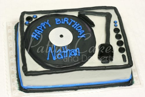 Prime Dj Turntables Cake Archives Pattys Cakes And Desserts Birthday Cards Printable Trancafe Filternl