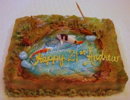 fishing birthday cake