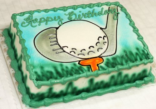 Astonishing Golfing Birthday Cakes Archives Pattys Cakes And Desserts Birthday Cards Printable Trancafe Filternl