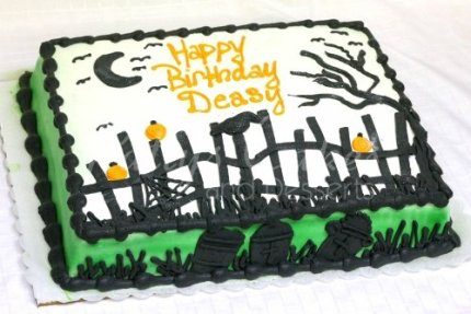 Halloween Sheet Cake Decorating Ideas : Halloween Themed Birthday Cakes