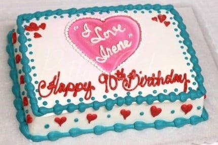 i love lucy birthday cake