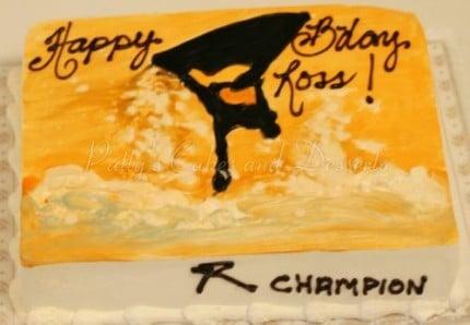 Jet ski birthday cake
