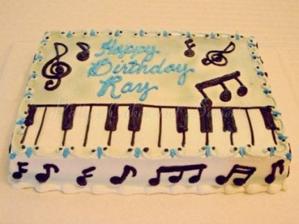 piano keys birthday cake