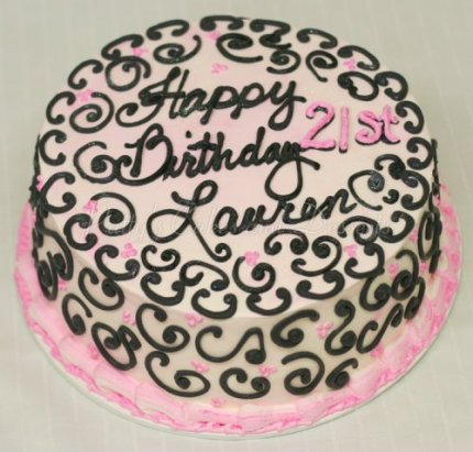 pink-black-21st-birthday-cake-round