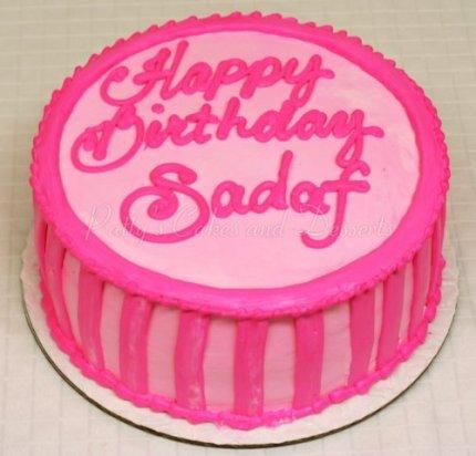 pink round cakes