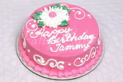 round-pink-white-birthday-cake