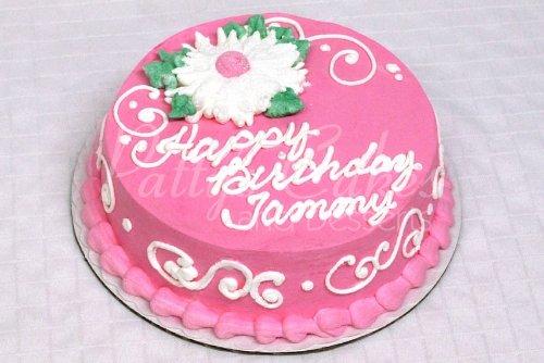 Round Birthday Cake Images : Pink round cakes