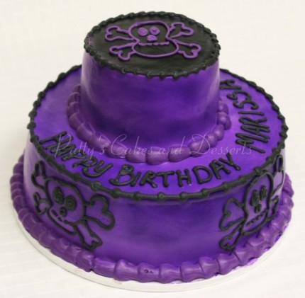 skulls-birthday-cake-purple-black