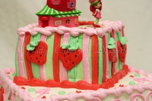 Amazing Strawberry Shortcake Birthday Cake Archives Pattys Cakes And Personalised Birthday Cards Cominlily Jamesorg