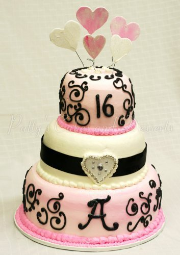 Sweet 16 Birthday Party Also 3 Tier Cakes