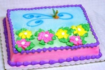 tinker bell flower cake