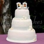 beach-wedding-cake-white-fence-photos