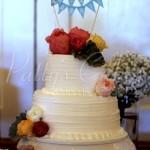 home style wedding cake